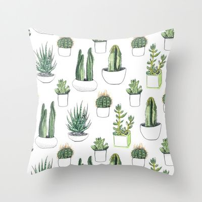 Buy watercolour cacti and succulent by Vicky Webb as a high quality Throw Pillow. Worldwide shipping available at Society6.com. Just one of millions of…