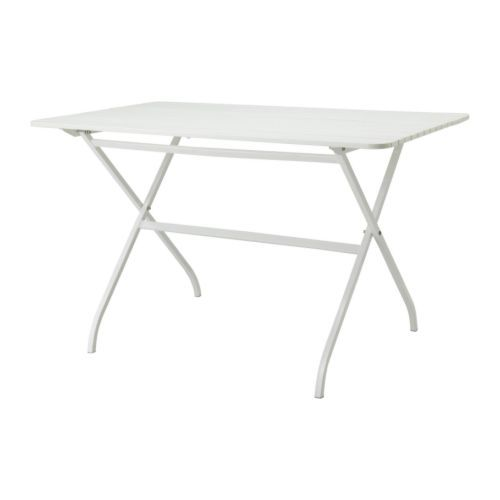 ikea mlar table outdoor white cm perfect for your balcony or other small spaces as it can be folded up and put away