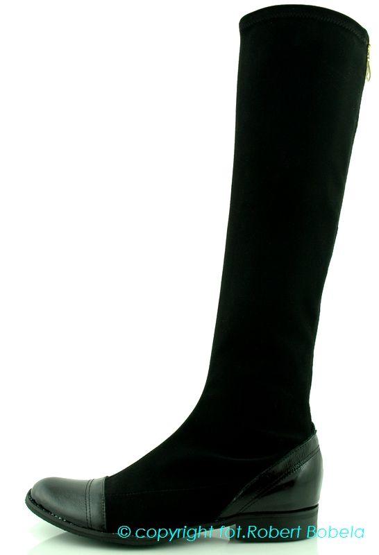 Damskie kozaki ze streczu Kare http://zebra-buty.pl/model/3927-damskie-kozaki-ze-streczu-kare-2032-190 #kozaki #buty #shoes