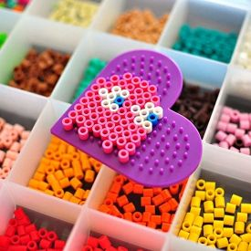 Make Halloween cards with your kids and perler beads!