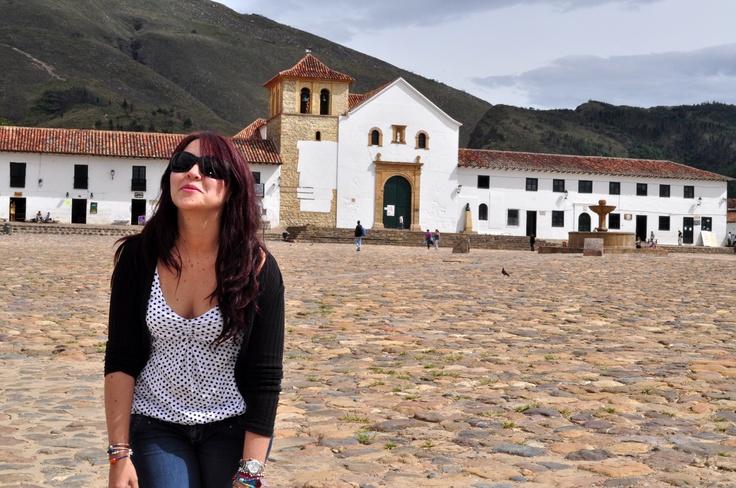 En la plaza principal de Villa de Leyva.