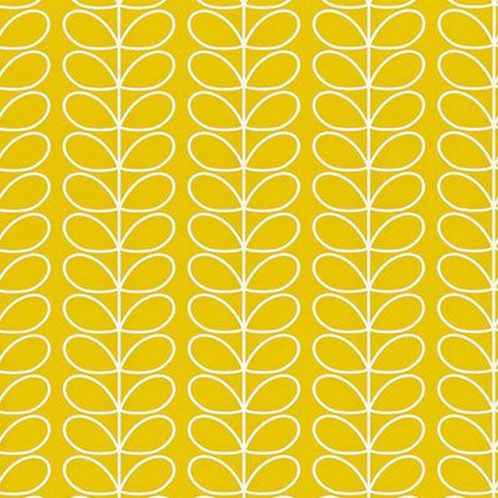 "Dov gul botten med vita konturer av raka bladrankor""Linear Stem"""