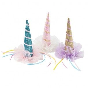 We Heart Unicorns Party Hats - We Heart Unicorns - Party Themes A-Z - Kids' Party