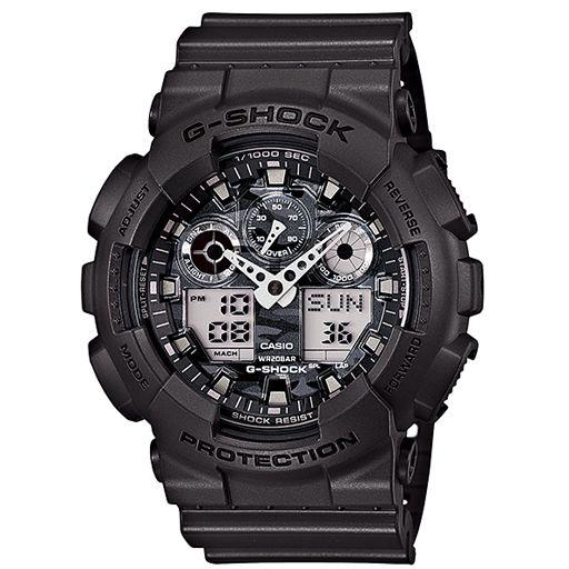 G-Shock GA100 Camo Dial Watch (Grey/Grey) $108.95