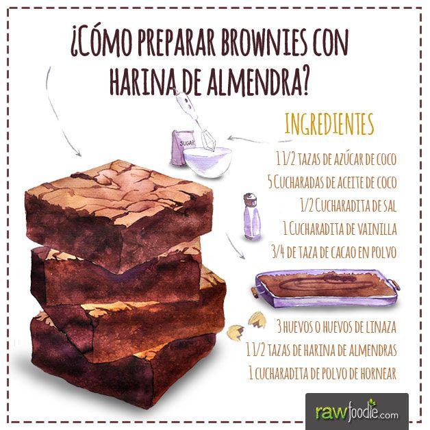 ¡Aprende a preparar unos deliciosos y saludables brownies con harina de almendra!