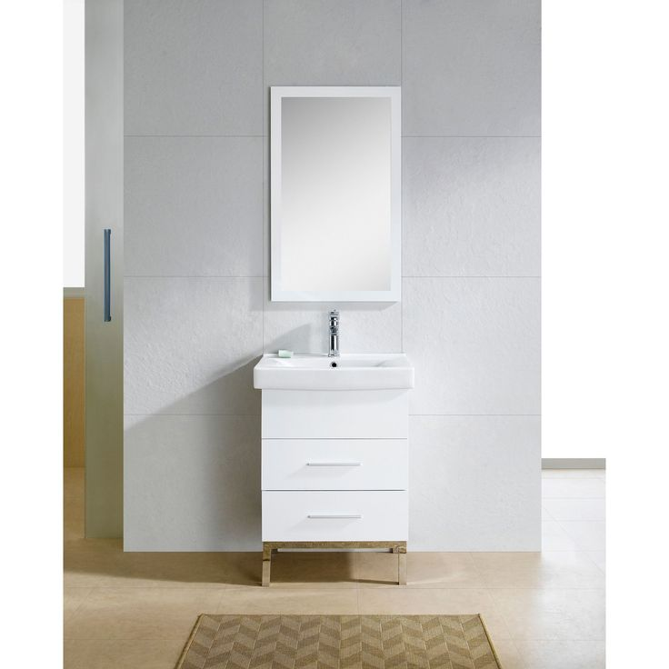 Fine Fixtures Fashion 24-inch Vanity with Vitreous China Sink Top
