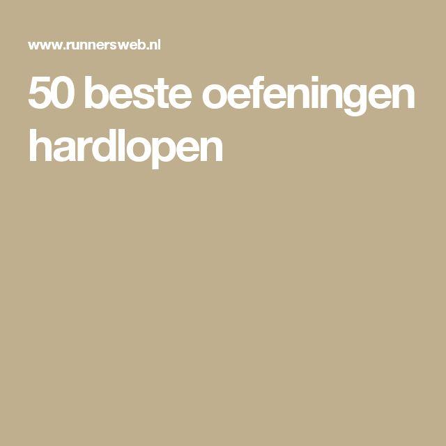 50 beste oefeningen hardlopen