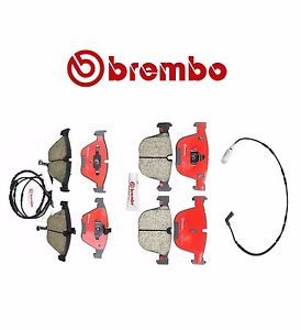 a new brembo premium ceramic brake pads sensors front rear bmw e60 e63