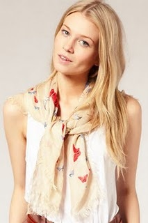 beautiful summer scarf. tied loosely around the neck