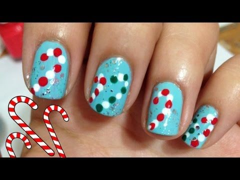 Easy CANDY CANES ♥ 12 Days of Christmas Nail Art Challenge !