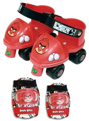 Angry Birds Toy Skate And Roller Skate Combo With Knee And Elbow Pad