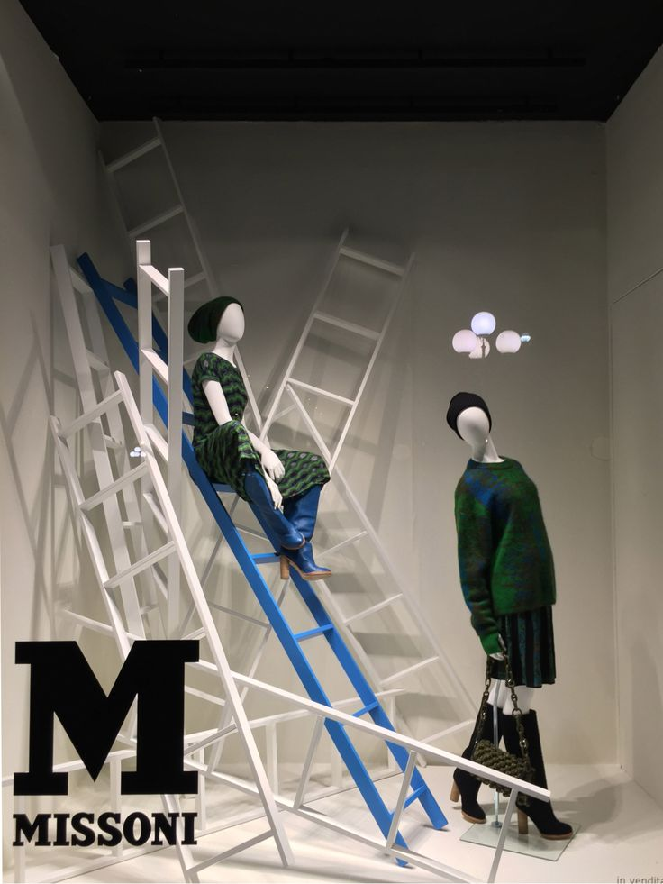 "LA RINASCENTE, Milan, Italy, ""Suzan... It's better to be at the bottom of the ladder you want to climb than the top of the one you don't"",  for Missoni, creative by Lab Zero Cinque, pinned by Ton van der Veer"
