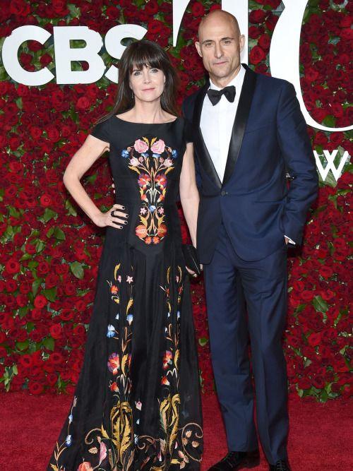 Liza Marshall and Mark Strong at the 2016 Tony Awards.