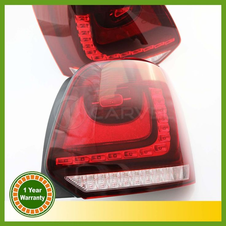 (399.99$)  Watch here - http://aiy5y.worlditems.win/all/product.php?id=32802106413 - 2 x New For VW Polo 2010 2011 2012 2013 LED Tail Light Rear Light 6R0945095 6R0945096
