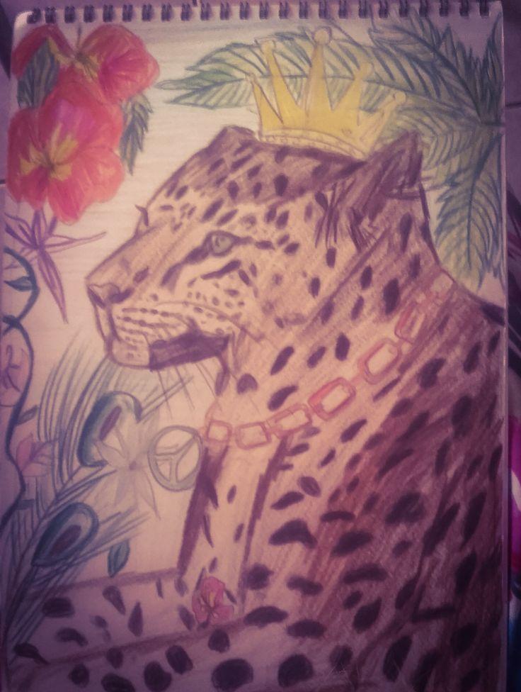 drawing a tiger king  #animasldrawing #by briny