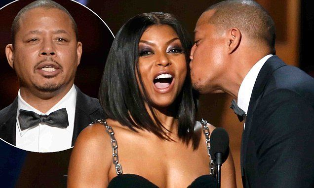 Terrence Howard has awkward kiss with Taraji P Henson at Emmys