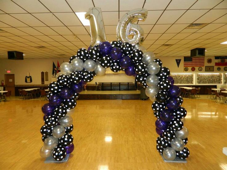 191 best images about balloon arch ideas on pinterest for Balloon decoration ideas for sweet 16
