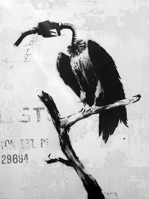 #Bansky Petrol Vultures