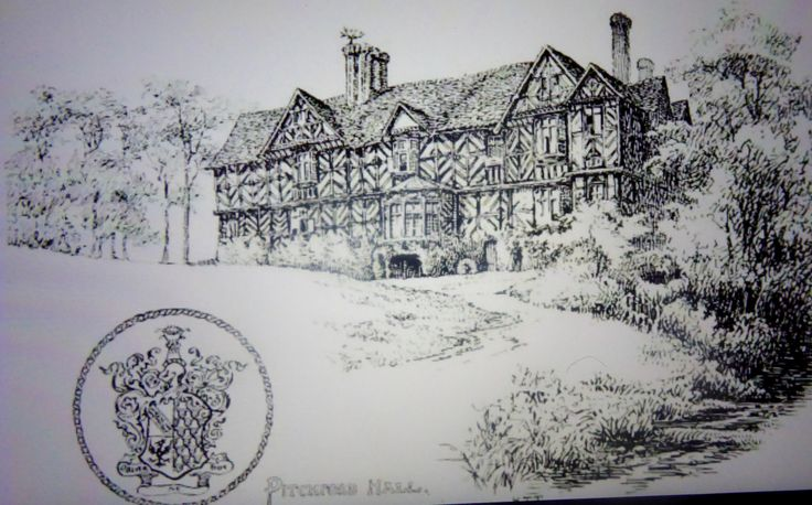 Victorian drawing.Princess described it as a large cottage!!