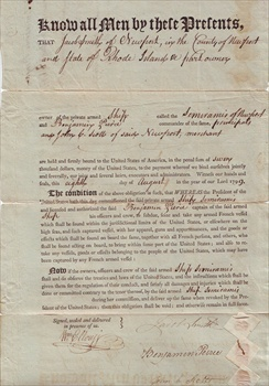 This artifact is a letter surrendering a Letter of Marque, which was a document allowing agents to commit piracy. Letters of Marque were handed out by ...