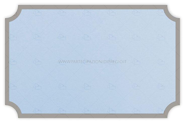Partecipazioni matrimonio - dimensione: 17 x 11 - forma: serena - carta: Gmund Cotton - Gentlemen Blue - 300, 600, 900 gr. - linea: cornici Serena - modello: cornice Serena al vivo piena mm 4 - lavorazione press: cornici