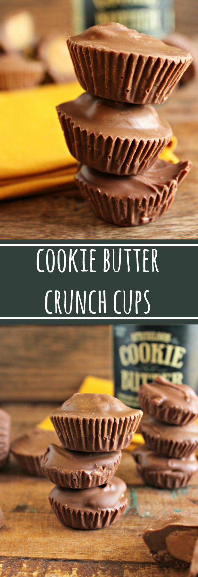 Delicious and easy to make COOKIE BUTTER crunch cups. Like a Reese's cup but…