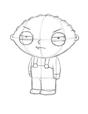 Draw Stewie Griffin Step 18