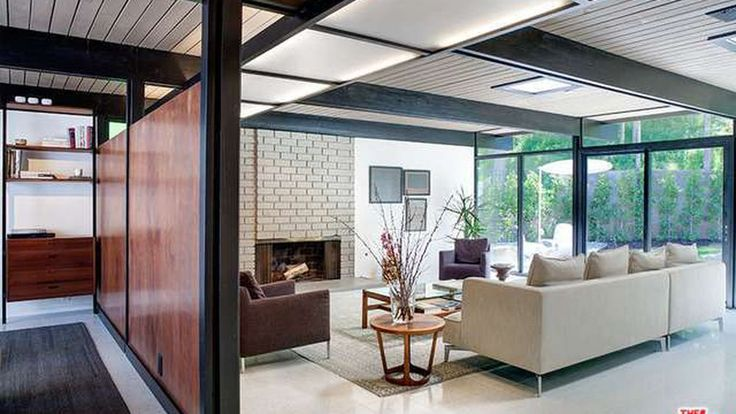"""This lovely, flat-roofed 1959 house north of Mulholland Drive in Sherman Oaks Estates has seen some updates, but nothing extreme: it still has the """"original footprint and layout,"""" boasts the listing, which also implies the house was designed by Richard Dorman."""