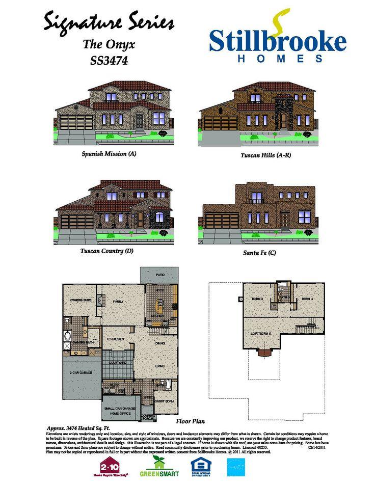 Stillbrooke Homes Onyx Floor Plan Stillbrooke Homes