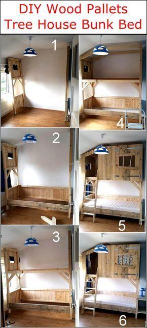 Diy Wood Pallets Tree House Bunk Bed Ideas Pinterest Tree