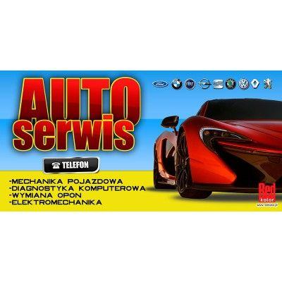 gotowe projekty reklam _ serwis samochodowy więcej na www.redkolor.pl