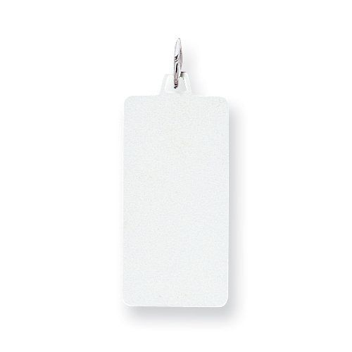 Sterling Silver Engraveable Rectangle Disc Charm goldia. $18.92