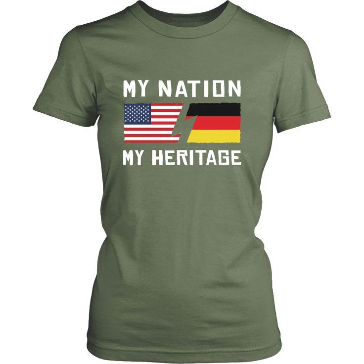 German Shirt - My Nation - My Heritage - Native Roots Gift-T-shirt-Teelime | shirts-hoodies-mugs