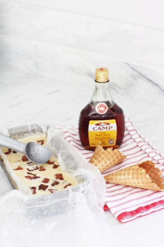 [Canada Day] Maple Bacon Whiskey Ice Cream