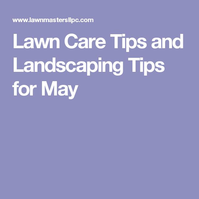 Lawn Care Tips and Landscaping Tips for May
