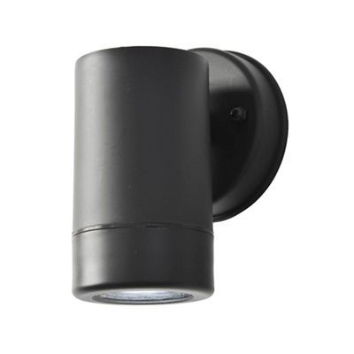 Litecraft Hahn Outdoor Polycarbonate LED Single Up Or Down Wall Light - Black…