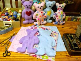 Megan's Tiny Treasures: Free Teddy Bear Pattern - A simple softie to sew for Bearathon