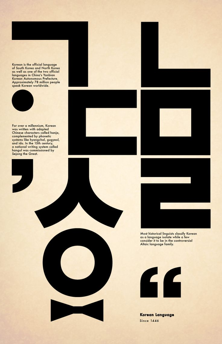 Korean language - Design
