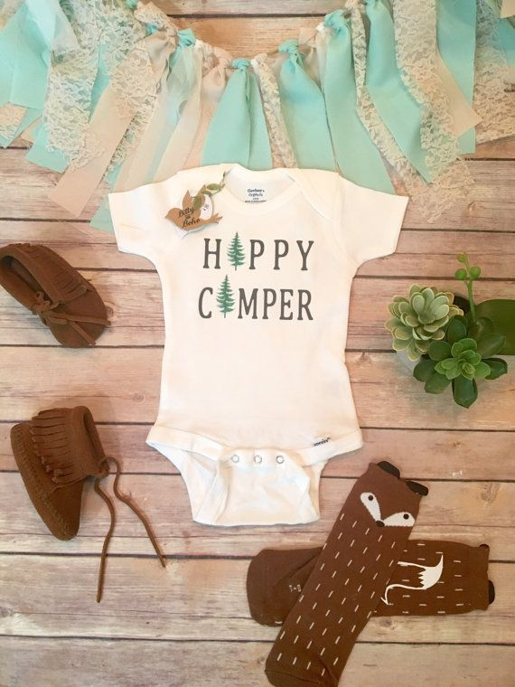 7963fd3e6 Hipster Baby Clothes, Baby Boy Gift, Camper Onesie®, Baby Boy Clothes, Baby  Shower Gift, Cute Baby Clothes,Cute Onesies,Happy Camping Onesie | Nursery  ...