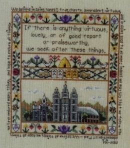 Religious, LDS & Mormon Cross Stitch Patterns | Yvette Ungricht Cross Stitch