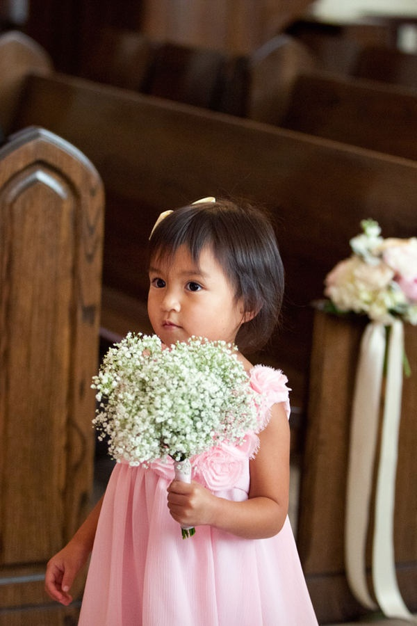 Baby's breath bouquet for a flower girl... cute!