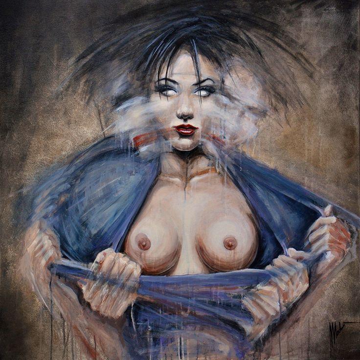 Painting by Tomasz Machoń 100x100 canvas