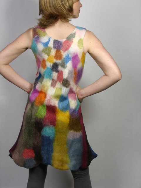 Gorgeous wet felted dress