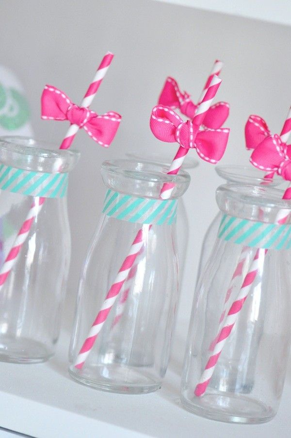 Dark Pink Stripe Paper Straws | 25ct for $4.47 in Pink Party Supplies - Shop By Color - Party Themes