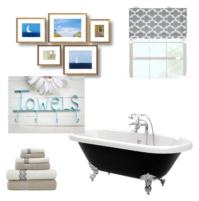 """bathroom"" by caoimheod on Polyvore featuring interior, interiors, interior design, home, home decor, interior decorating, Prospect + Vine and bathroom"