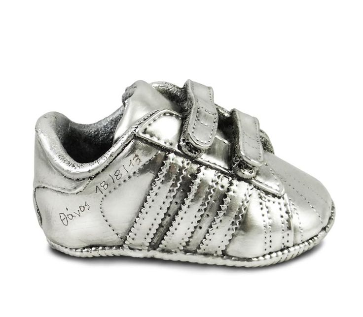 Baby's shoe coated with 999o pure silver. By Shine4ever.gr