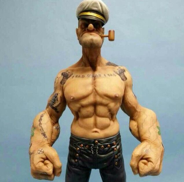 Diesel Popeyes the Sailorman figure by Headplay toys.