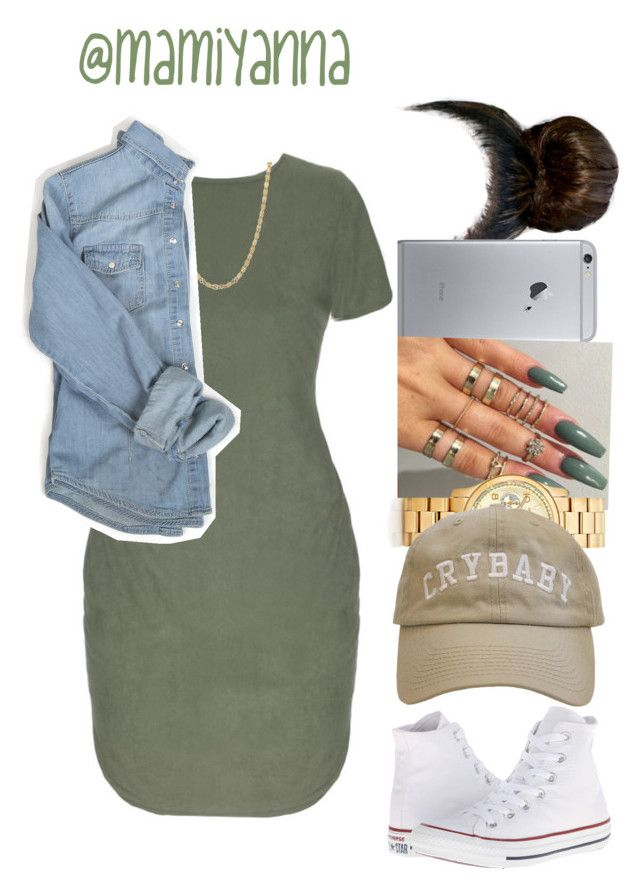 """""""Overtime ~ Bryson Tiller ☁️"""" by mamiyanna on Polyvore featuring Michael Kors, Converse, women's clothing, women's fashion, women, female, woman, misses and juniors"""