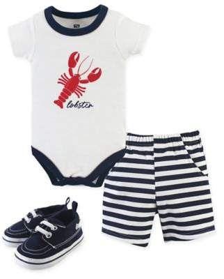 039fbe1ef Hudson Baby 0-3M 3-Piece Lobster Bodysuit