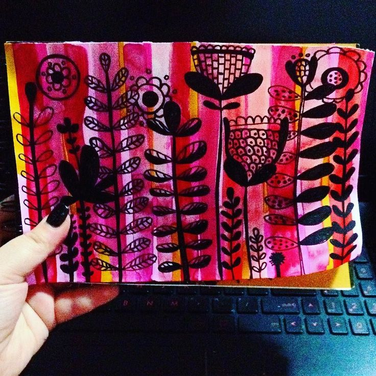 Mixed media pattern design sketch - #thehappynow #thatsdarling #watercolor #watercolorsketch #art #art #artistic #artislife #lovemyjob #lovemywork #design #designer #artist #ohnmarwin #ohnmarskillshare #photooftheday #handdrawn #handpainted #pursuehappy #pursuepretty #mixedmedia #mixedmediaart #pattern #patterndesign #graphicdesigncentral